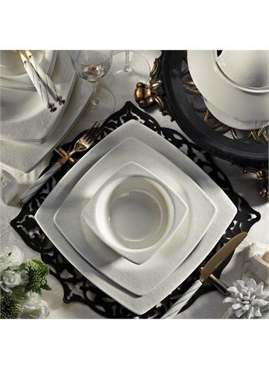 Kütahya Porselen Kütahya Porselen Bone Mare 62 Parça Yemek Takımı Platin BNMR62YT955920 Renkli